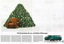 Publicité Advertising 1990 (2 pages) VW Volkswagen Camionnette utilitaires