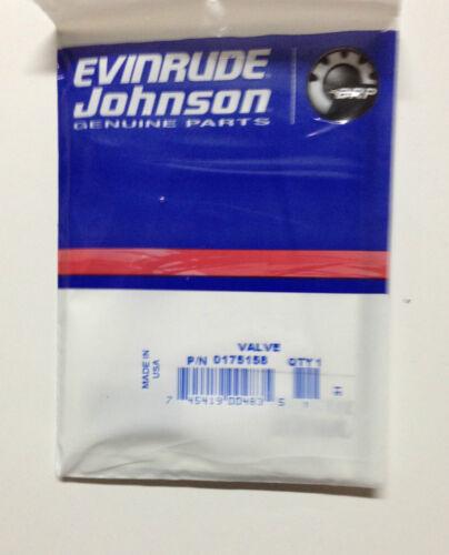 OEM Johnson Evinrude 175158 Primer Solenoid Schrader Valve Kit NIP B765749 OMC