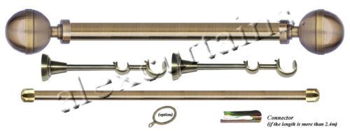 length 360cm Double Curtain Rods diameter 25mm//16mm