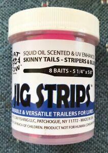 5-1//2in Eel Tail Fat Cow Fishing Jig Strips