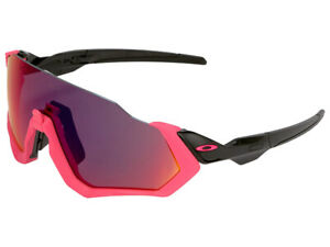 Oakley-Flight-Jacket-Sunglasses-OO9401-0637-Neon-Pink-Polished-Black-Prizm-Road