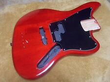 2013 Fender Squier Vintage Modified Jaguar bass guitar body Trans Crimson Red