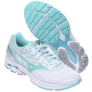 Mizuno-WAVE-Rider-21-Women-039-s-Running-Shoes-White-Marathon-Walking-J1GD180304
