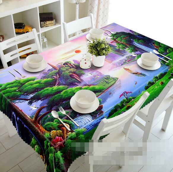 3D Forest 836 Tablecloth Table Cover Cloth Birthday Party Event AJ WALLPAPER AU