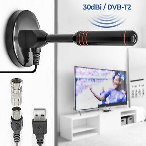 5m-30dbi-DVB-T2-Full-HD-Antenne-Leistungsstarke-Stabantenne-Verstaerker-Fernseher