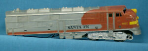 O-Scale-Santa-Fe-Dummy-War-Bonnet-Engine-PARTS-ONLY