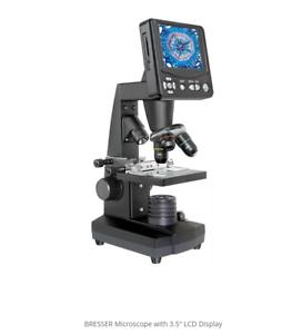 NEW-NEU-Bresser-50x-2000x-LCD-Mikroskop-8-9cm-3-5-034-5-megapixel-Microscope