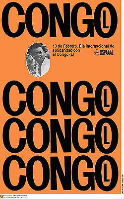 Political POSTER.CONGO.Lumumba.Mobutu.Anti Colonialism Africa.Colonialism Art.61