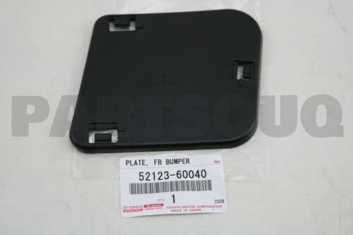 RH 52123-60040 FRONT BUMPER REINFORCEMENT 5212360040 Genuine Toyota PLATE