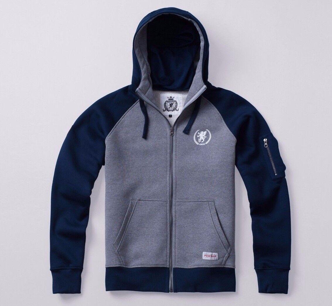 PG Wear Revolt Full Face Zip Hoodie grau Navy Grau Blau