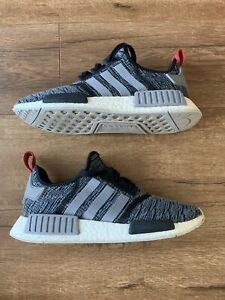 46abad37e35 Details about Adidas NMD R1 Glitch Camo Core Black Grey Red Men's Size 9.5  NMD_R1 BB2884