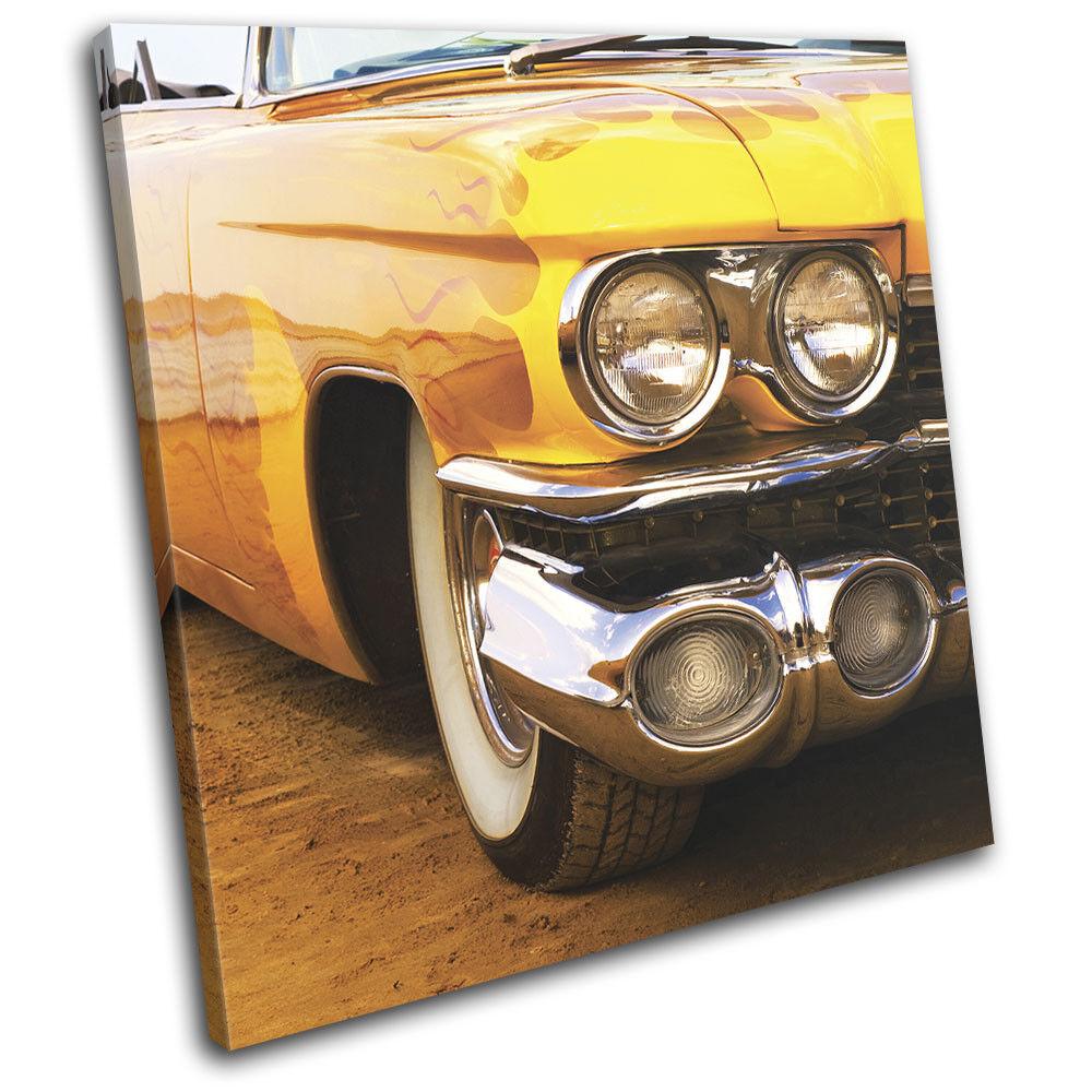Vintage American Car arte Beach Transportation SINGLE LONA pa rojo  arte Car Foto impresion 4ae7cf