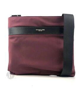 Details about Michael Kors Mens Kent Slim Medium Nylon Crossbody Bag