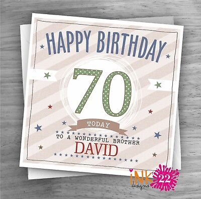 Personalised birthday card great grandad 70th 80th 90th any name//message//age