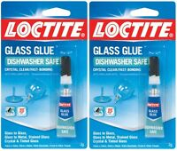 2 Loctite Glass Super Glue Clear Dishwasher Safe Metal Stained Tinted 233841