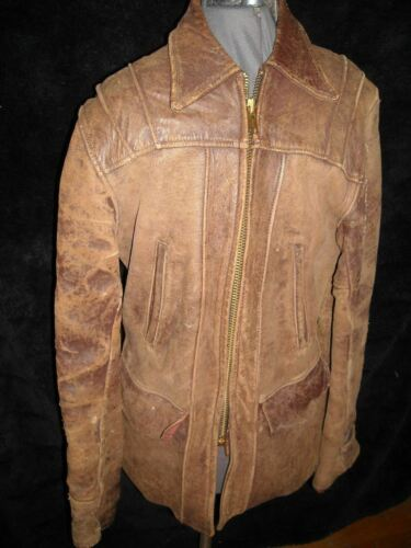 VTG 40S Mens 38 Brown DUO SUEDE Leather GRAYLEIGH