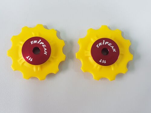 Tripeak 11T 10Speed Steel Bearing Jockey Wheel Red //Yellow // White