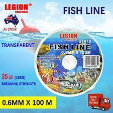 Fish Line 35lbs 0.6mm 100m Transparent Durable Heavy Duty Multi-purpose Nylon