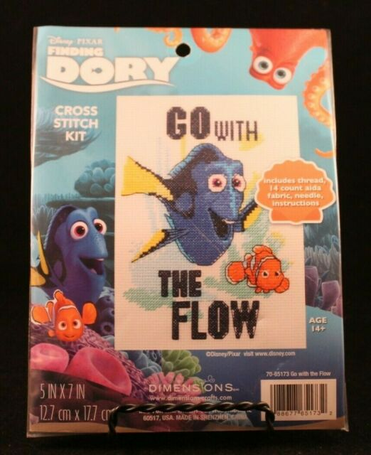 Dimensions 65173 Disney Pixar Finding Dory Counted Cross Stitch Kit Go With The