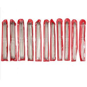55stk-20cm-Edelstahl-Doppelpunkt-gerade-Strickjacke-DIY-Stricknadel-Stricknadeln