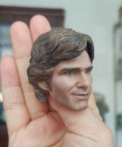 1//6 Han Solo Male Head Sculpt  Harrison Ford PVC Head Carved Fit 12/'/' Body Doll