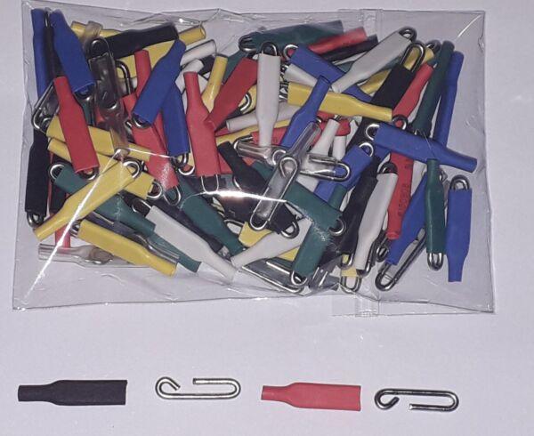 100 Enganches Rápidos De Varilla Acero Inox 1,2mm Todos Los Colores Competició Per Produrre Un Effetto Verso Una Visione Chiara