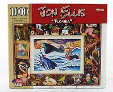 Florida 1000 Piece Jigsaw Puzzle Jon Ellis NEW fishing boat marlin flamingo art