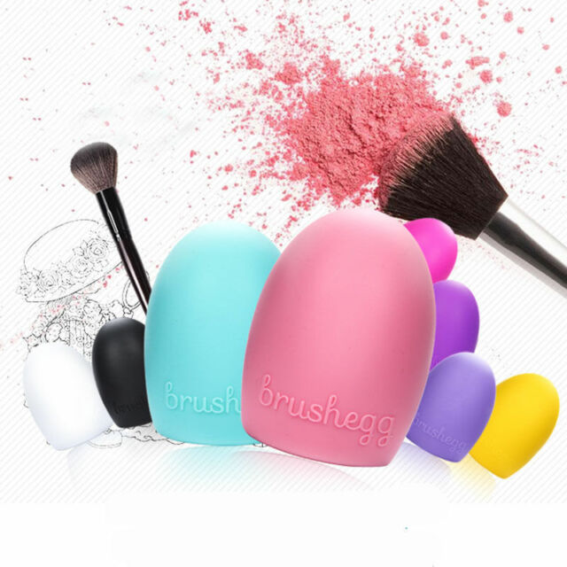 Women Egg Silicone Cleaning Glove MakeUp Washing Brush Scrubber Board Brushes S3