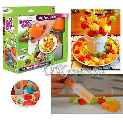 Fruit Decorator TV Product Food Snacks Festive Party Cutter Fast & Easy 6 Shapes