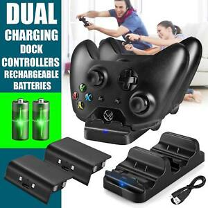 Dual-USB-Charger-Dock-2-Rechargeable-Battery-Packs-For-Xbox-One-Controller-UK