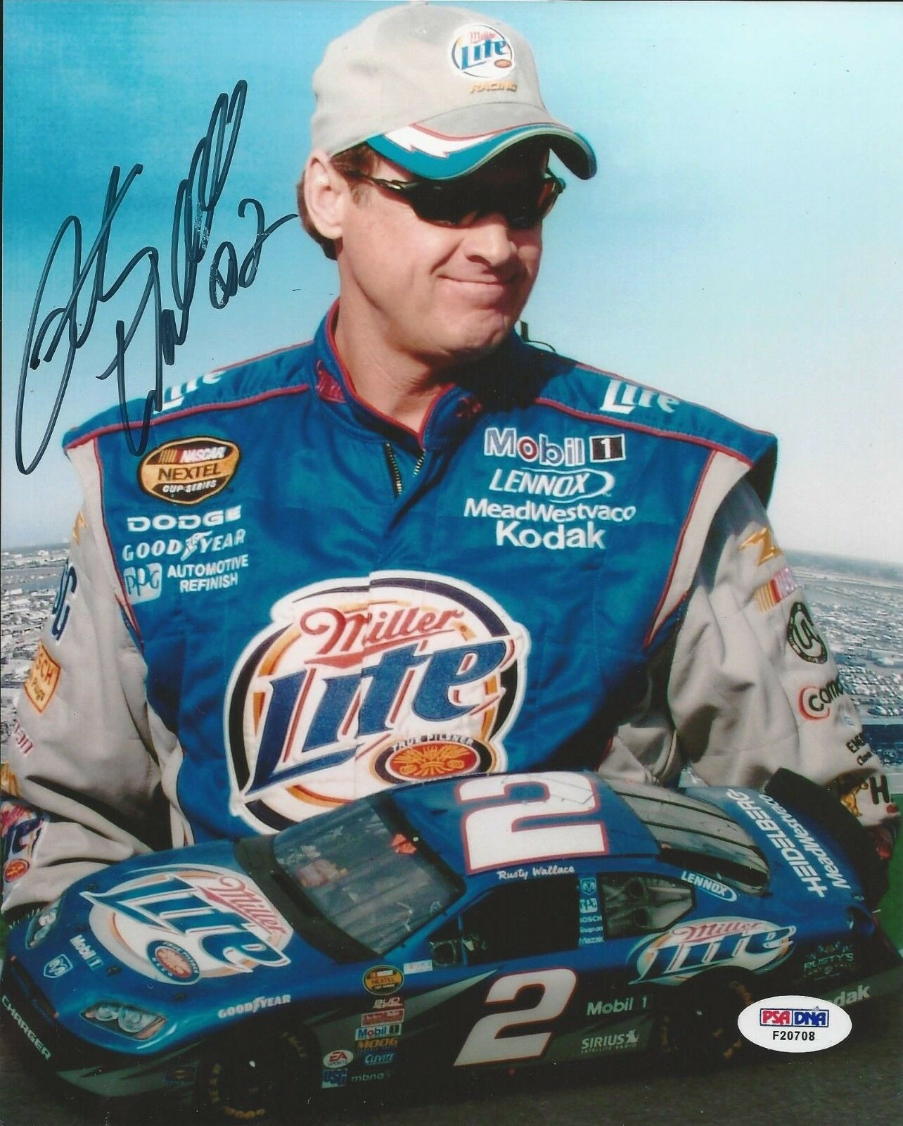 Rusty Wallace.signed 8x10 PSA/DNA Cert # F20708