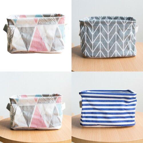 Foldable Durable Storage Bin Closet Toy Box Container Organizer Fabric Basket