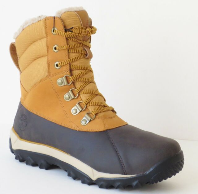 ad9e5d526ff Timberland Men's Rime Ridge Waterproof Winter Snow Boots Wheat Style A1GY1