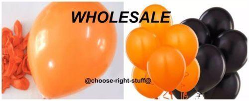 6-100 Assorted Halloween Balloon Black Orange Coweb Fancy Dress Party Spooky Dec