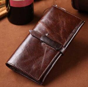 Men-spring-real-Leather-Bifold-ID-Credit-Card-Holder-wallet-purse-bag-handbag