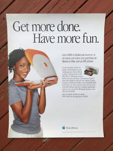 Authentic-Apple-Computer-Store-POSTER-034-Have-More-Fun-034-Rare-YEAR-2000