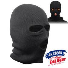 BLACK BALACLAVA MASK 2 HOLES SAS STYLE ARMY SKI HAT NECK WARMER SWAT FANCY DRESS