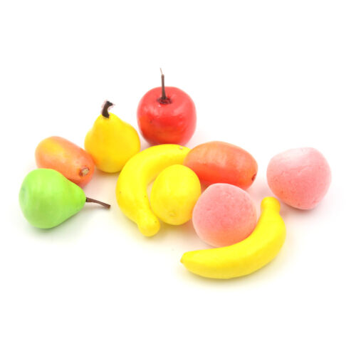 10pcs Many Kinds Of Fruit Miniature Dollhouse Decoration Handmade Food Supply@JB
