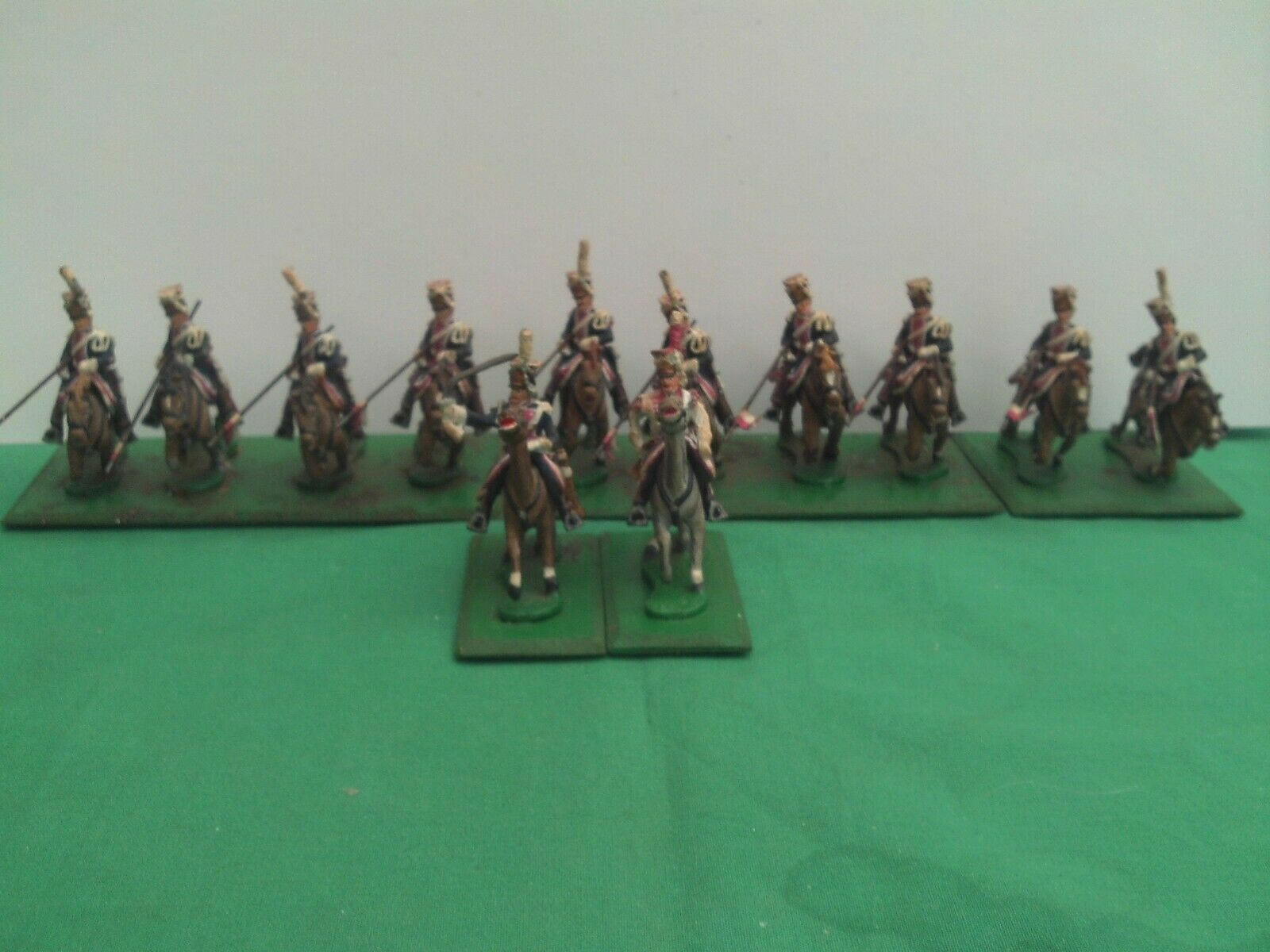 HINCHLIFFE 28mm PAINTED & & & BASED NAPOLEONS POLISH GUARD LANCERS X 12 acc533