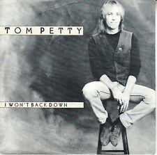 "TOM PETTY  I Won't Back Down PICTURE SLEEVE 7"" 45 rpm + juke box title strip"