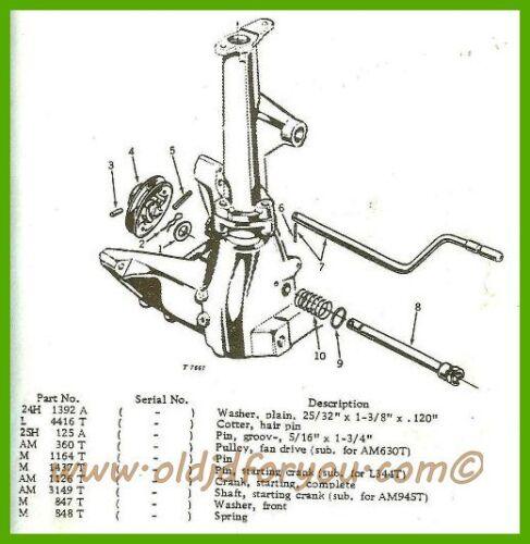 AM1126T  M1427T John Deere MT 40T 420T 430T Starting Crank Handle USA MADE!