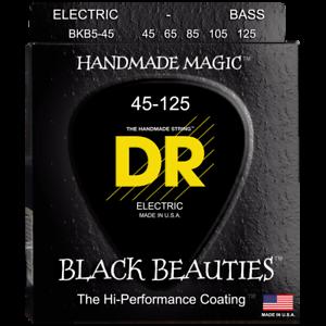 DR-Strings-Black-Beauties-BKB5-45-Medium-5-String-Bass-45-125-Authorized-Dealer