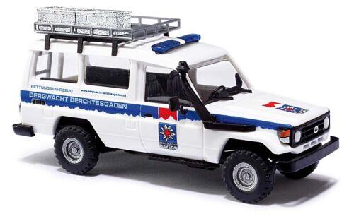 BUSCH 43517 Spur H0 Toyota Land Cruiser HZJ 78 Bergwacht Berchtesgaden  #NEU #