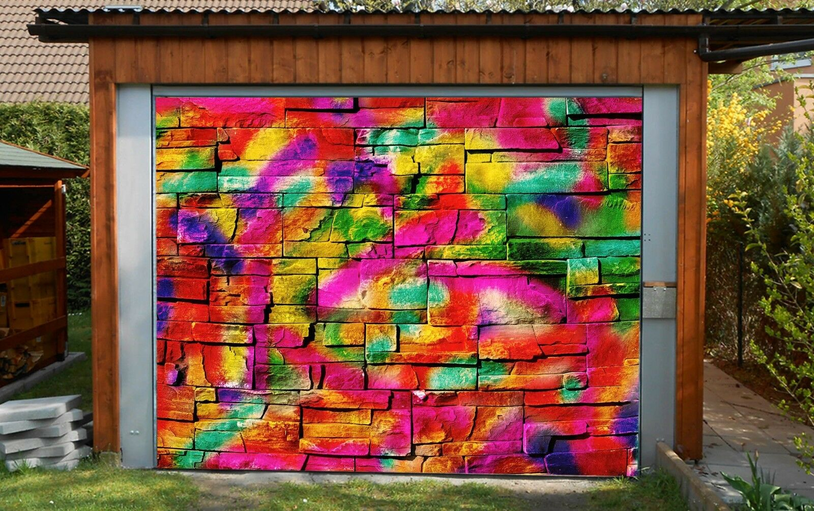 3D Graffiti 776 Garage Door Murals Wall Print Decal Wall Deco AJ WALLPAPER UK