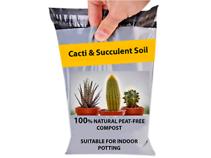 1-10 Litre of Premium Cactus Potting Soil Indoor Compost for Cacti /& Succulents