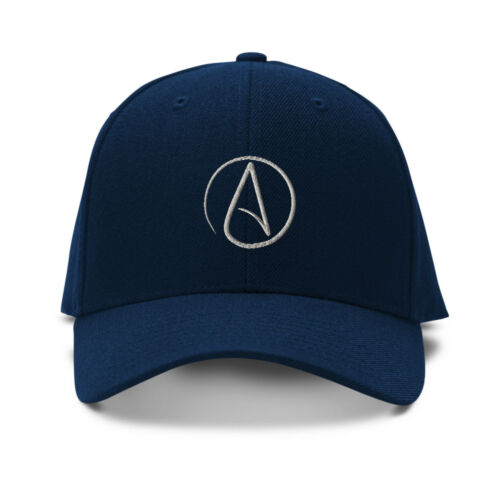 Atheism Symbol Silver Embroidery Embroidered Adjustable Hat Baseball Cap