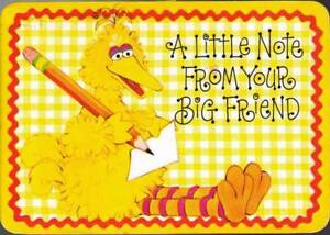 wda-Postcard-Big-Bird-A-Little-Note