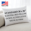 Down-Alternative-King-Standard-Queen-Bed-Pillows-Hypoallergenic-USA-Made-1-Pack thumbnail 2