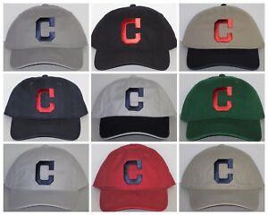 Cleveland Indians Polo Style Cap ~Hat ✨CLASSIC MLB PATCH LOGO ✨11 ... 5d24d0c9e3a1