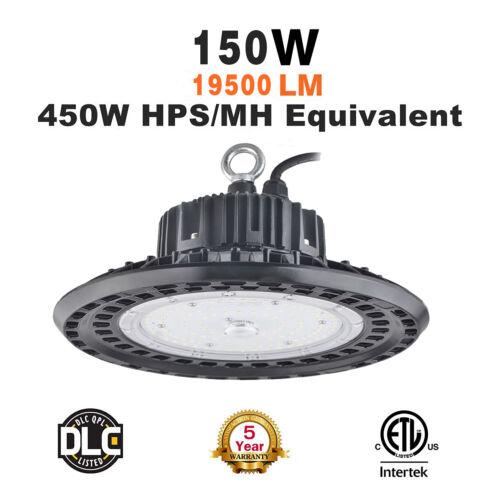 150Watt UFO LED Light High Bay 5000K Warehouse Industrial Lighting AC 100-277 V